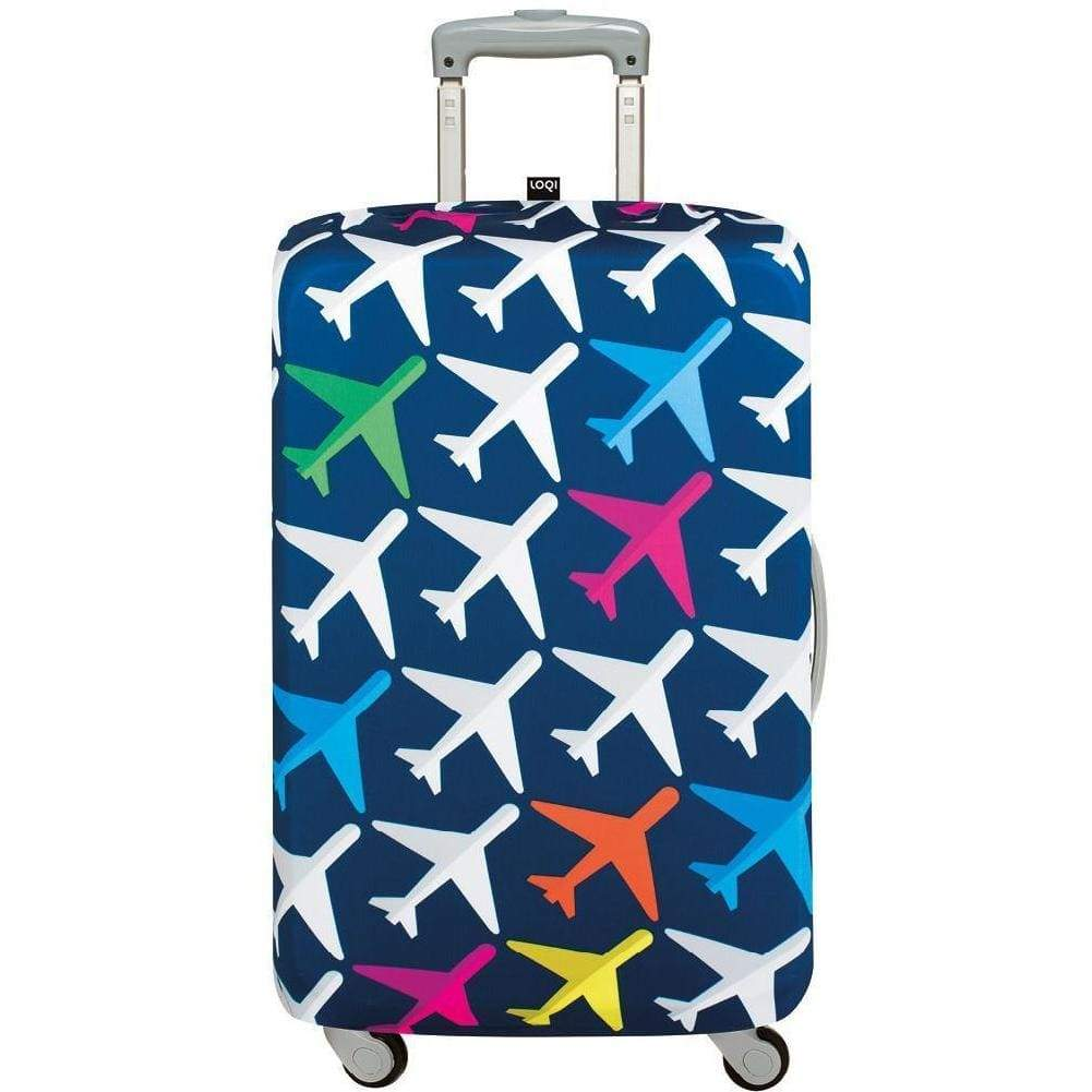 Loqi Water Resistant Luggage Cover - AIRPORT Airplane