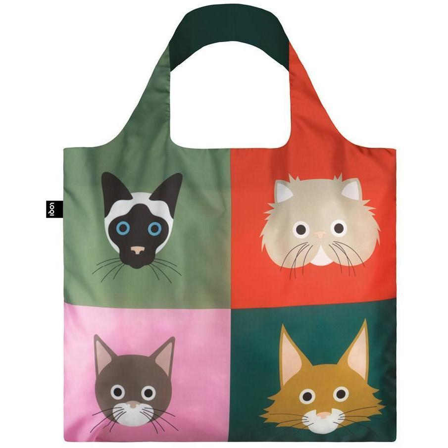 Loqi Water Resistant Reusable Bag - STEPHEN CHEETHAM Cats Bag