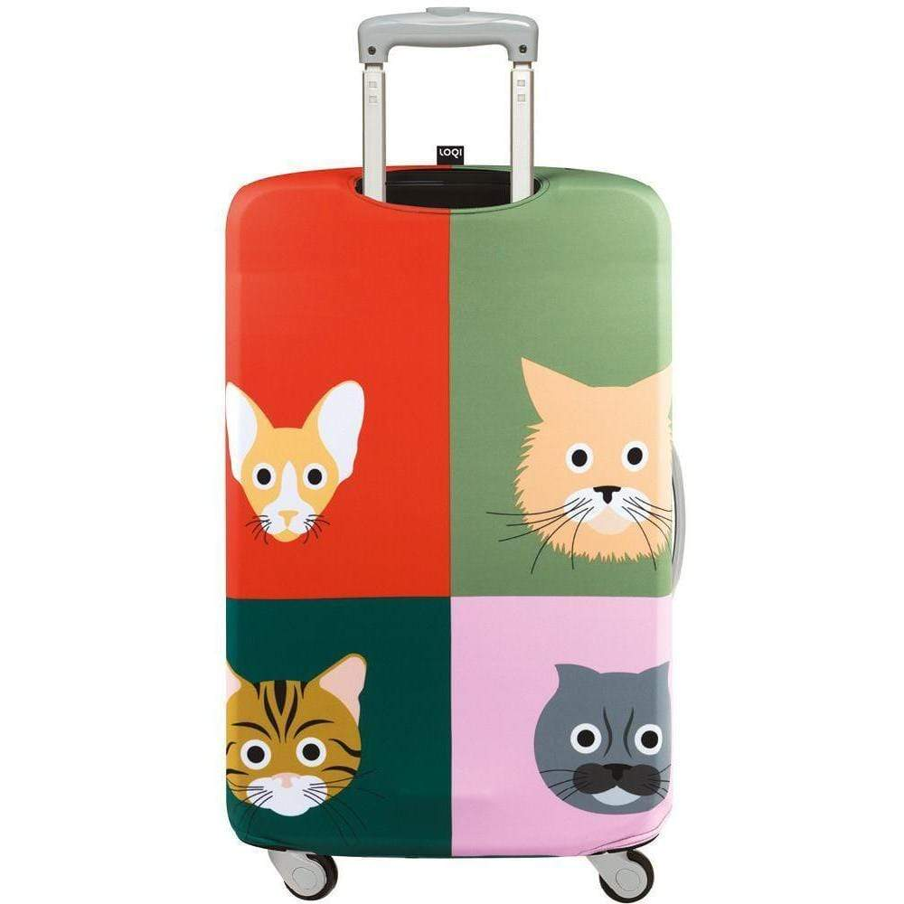 Loqi Water Resistant Luggage Cover - STEPHEN CHEETHAM Cats