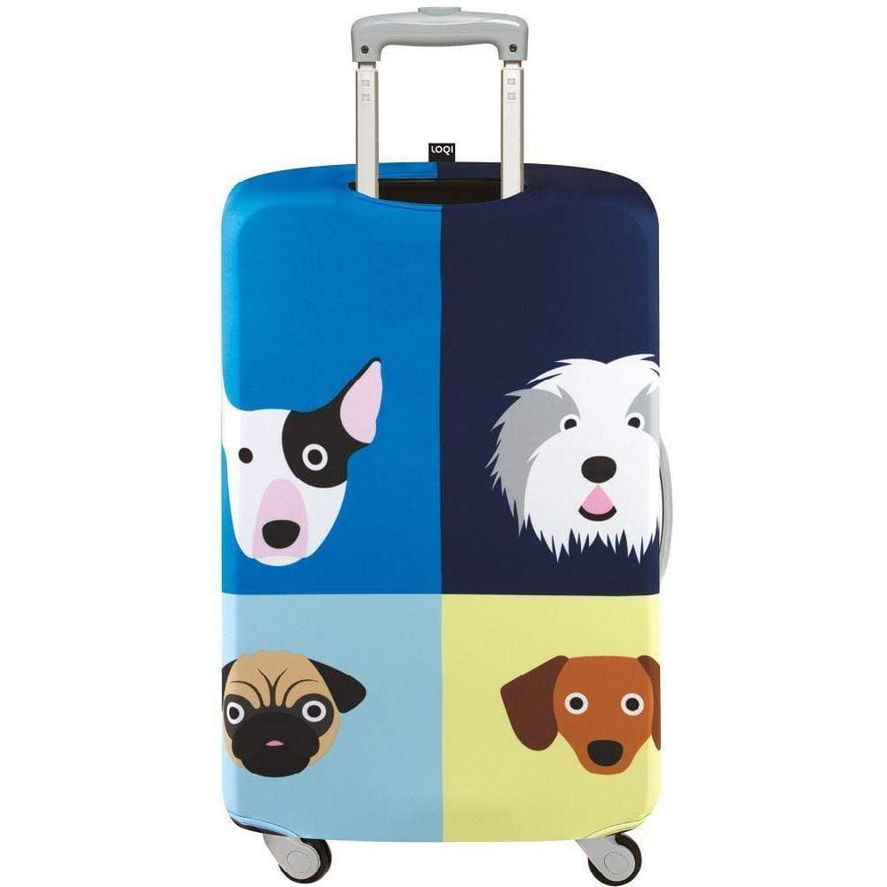 Loqi Water Resistant Luggage Cover - STEPHEN CHEETHAM Dogs