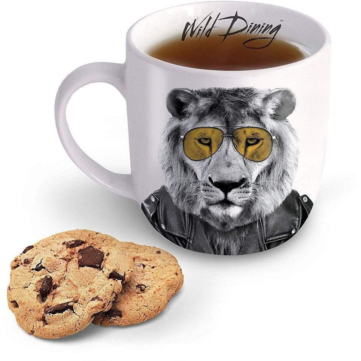 Wild Dining Ceramic Mug - Larry Lion