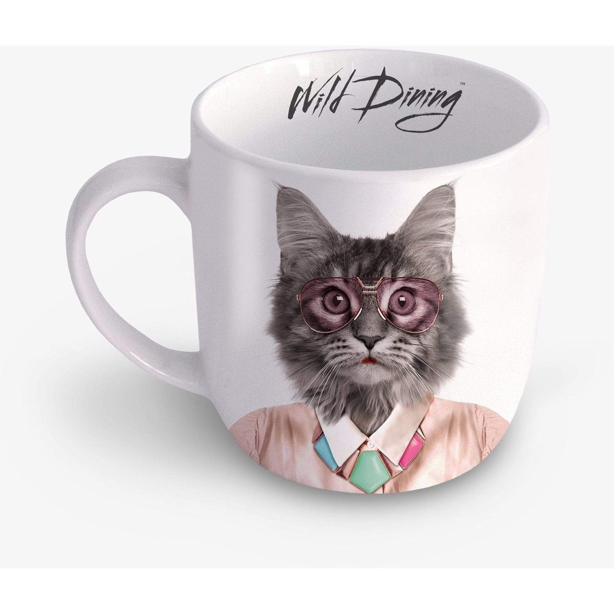 Wild Dining Ceramic Mug - Courtney Cat