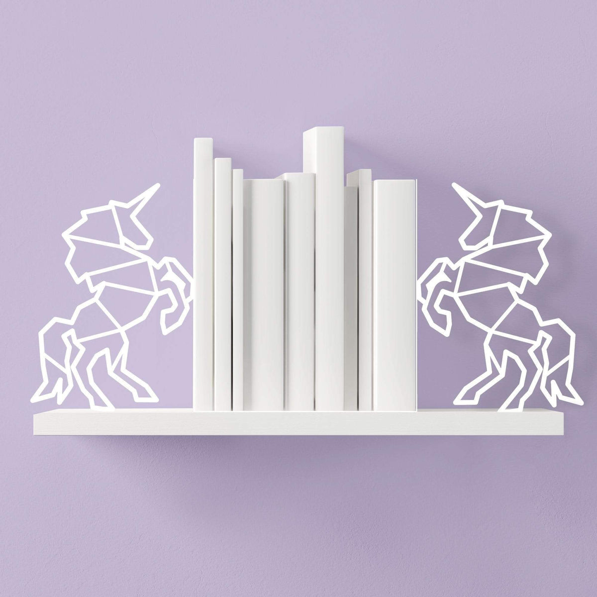 Unicorn Metal Bookends