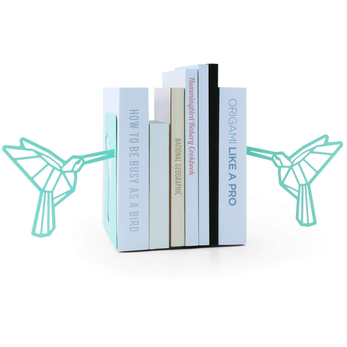 Origami Hummingbird Metal Bookends