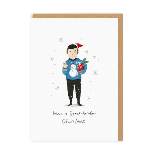 Ohh Deer Greeting Cards Spock-tacular Christmas Greeting Card - Set of 6