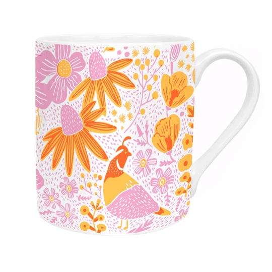 Ohh Deer Mugs California Flora Poppies Mug - Set of 6