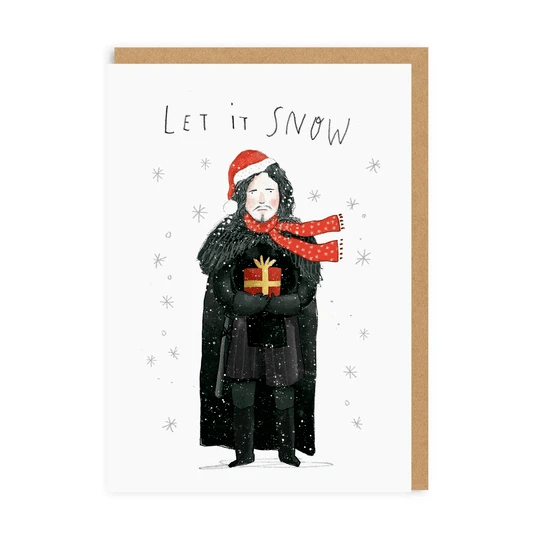 Ohh Deer Greeting Cards Let It Snow - Jon Snow Greeting Card - Set of 6