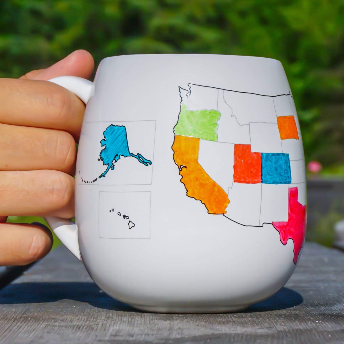 USA Mug with Coloring Pen