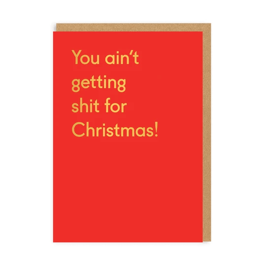 Karma Kiss You Ain't Getting Shit For Christmas Greeting Card - Set of 6