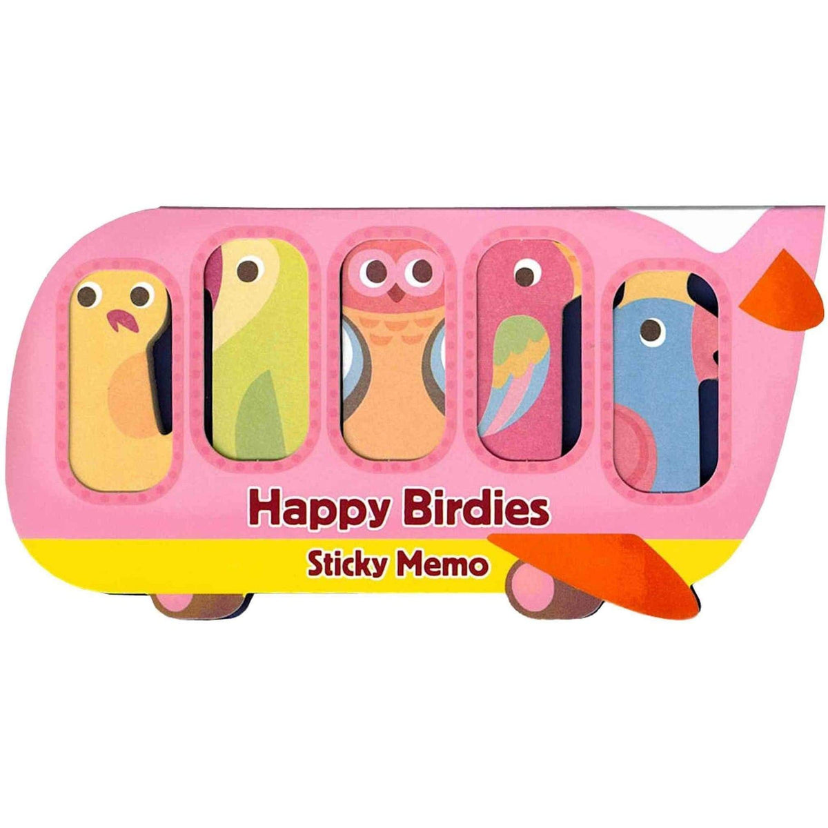 Sticky Memos Tallyho Let's Go Happy Birdies
