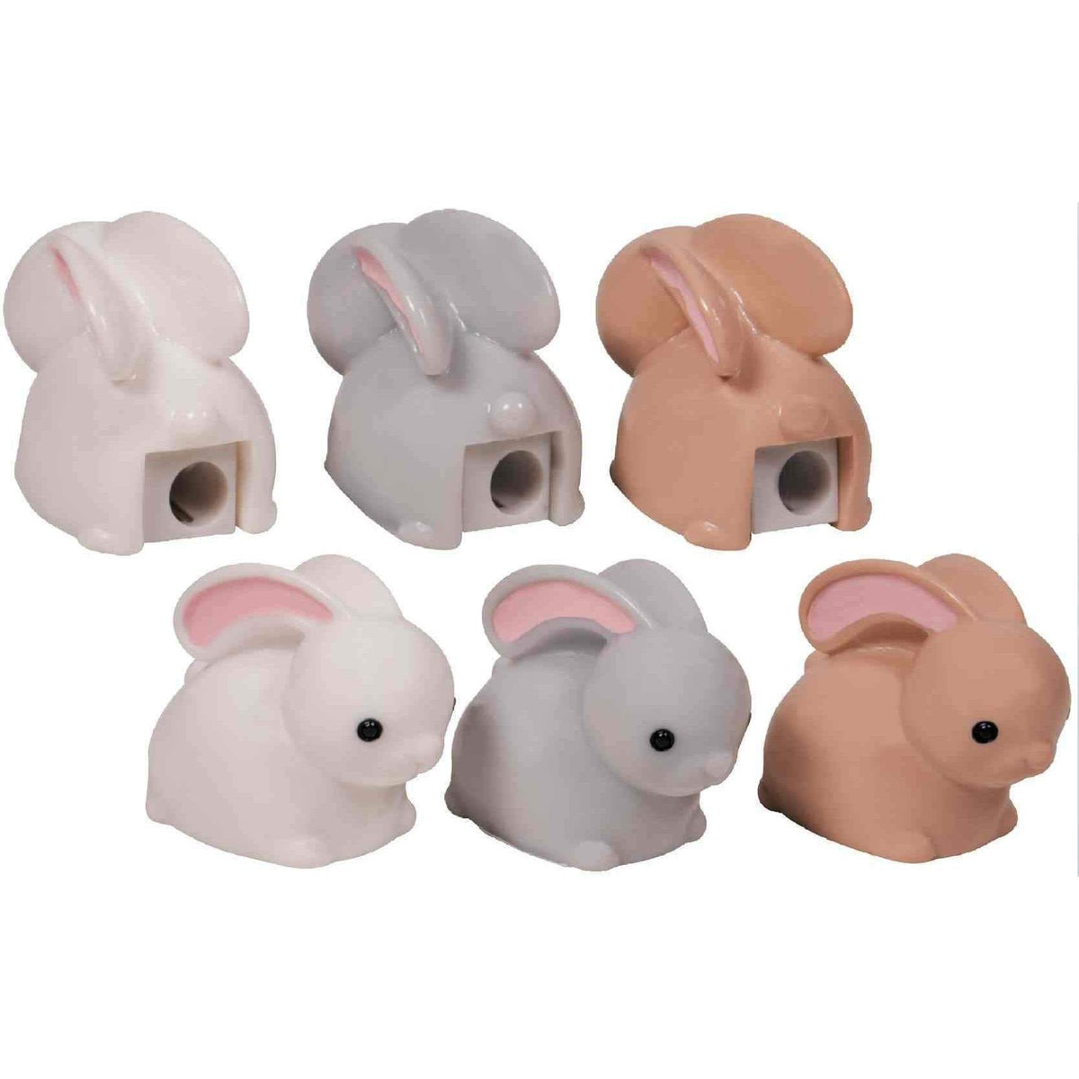 Bunny Pencil Sharpeners - Set of 3