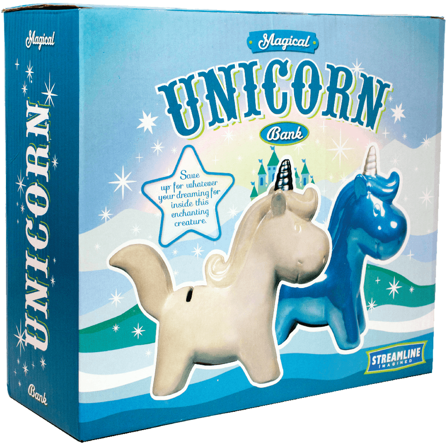 Magical Unicorn Money Bank - Blue