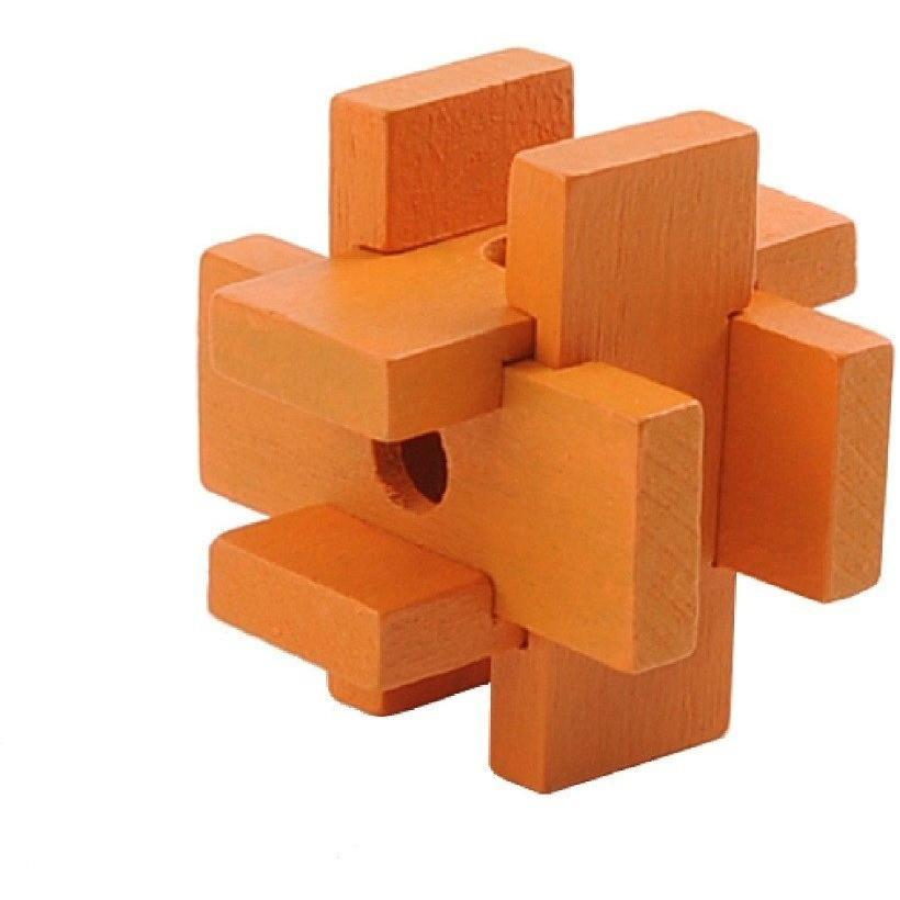Mini 3D Wooden Puzzle - Orange