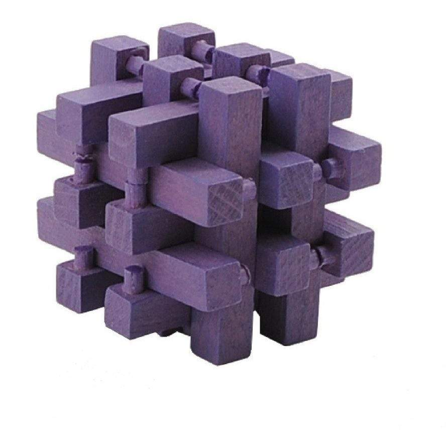 Mini 3D Wooden Puzzle - Purple