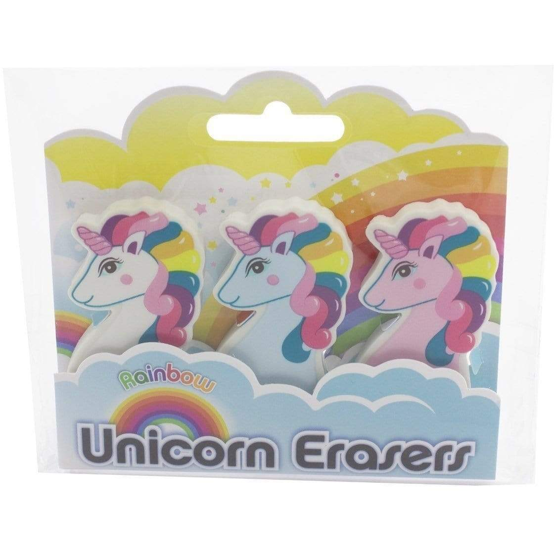 Rainbow Unicorn Eraser Set
