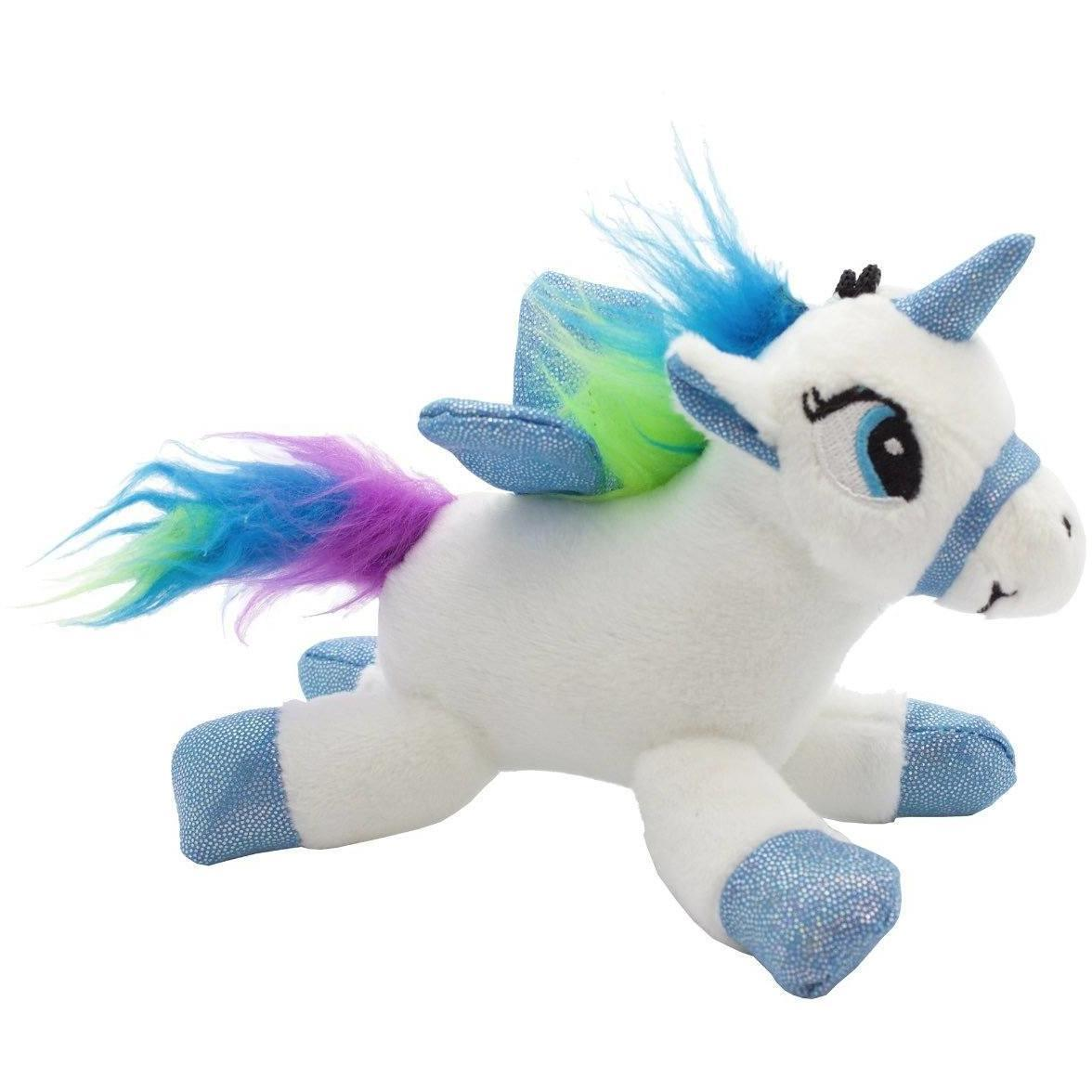 Plush Unicorn Sound Bag Tag Clip