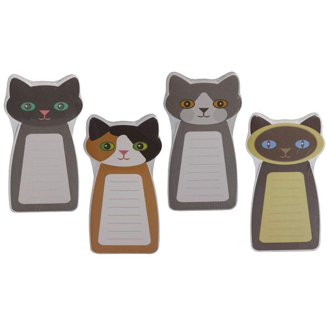 Cat Memo Pads Set of 4