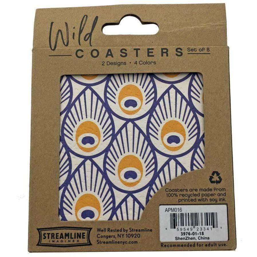 Peacock 8pc Coaster Set