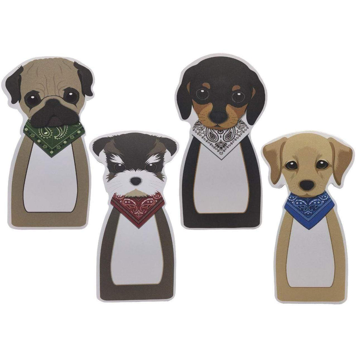 Puppy Memo Pads - Set of 4