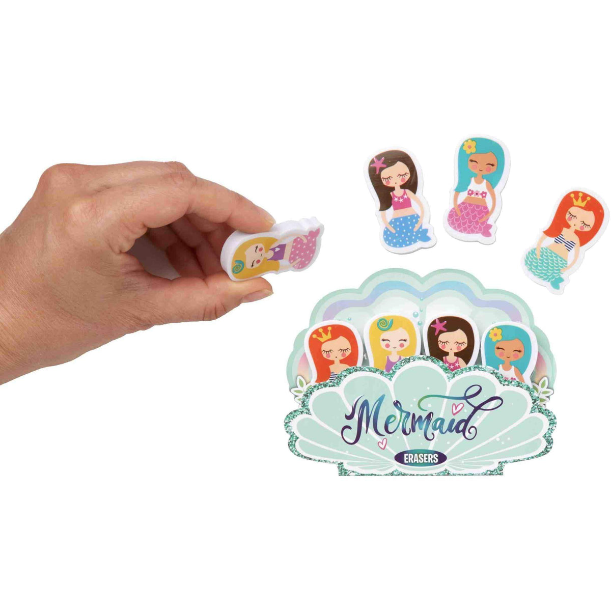 Mermaid Eraser Set