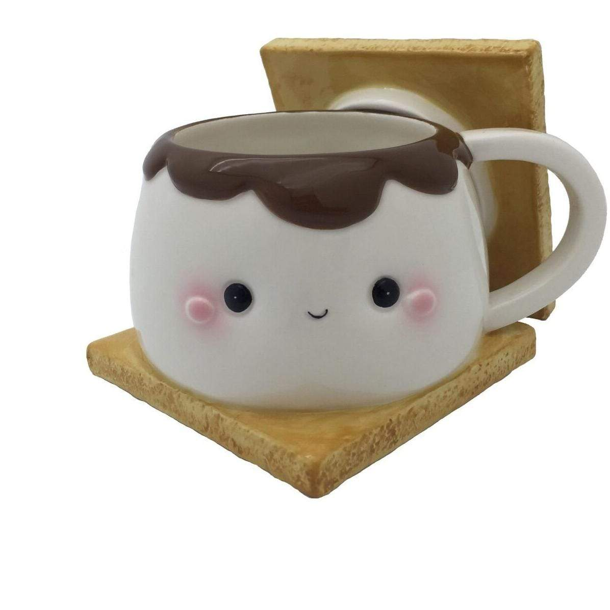 Marshmallow S'more Mug With Lid