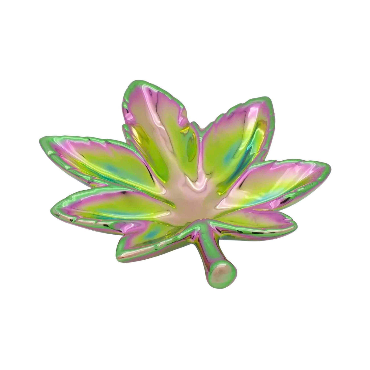 Iridescent Pot Leaf Trinket Dish
