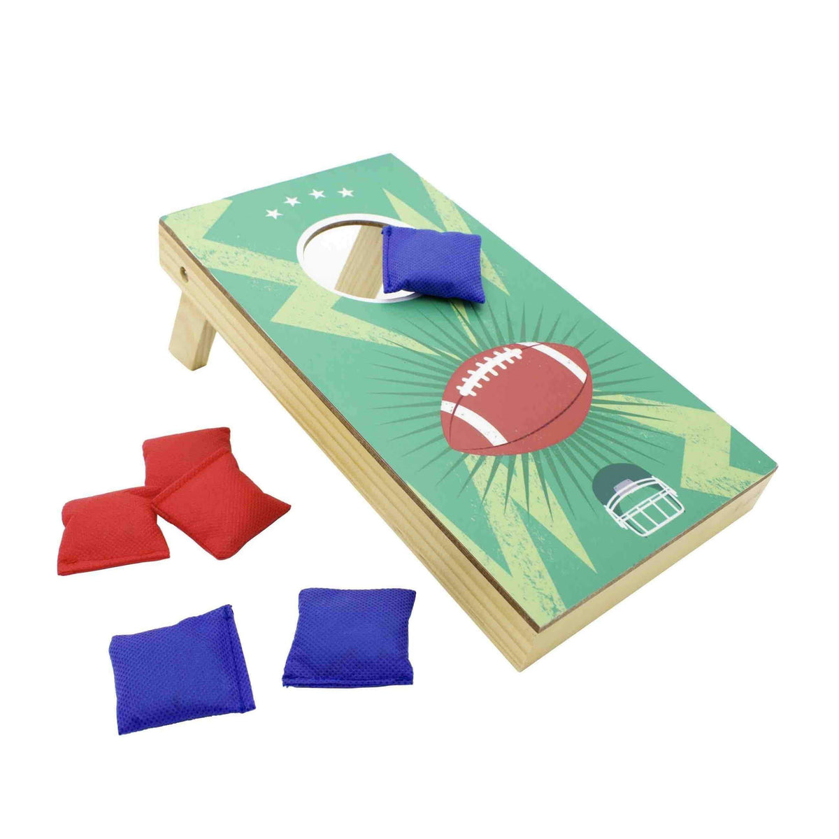 2-in-1 Cornhole & Beer Ring Toss Tabletop Game Set