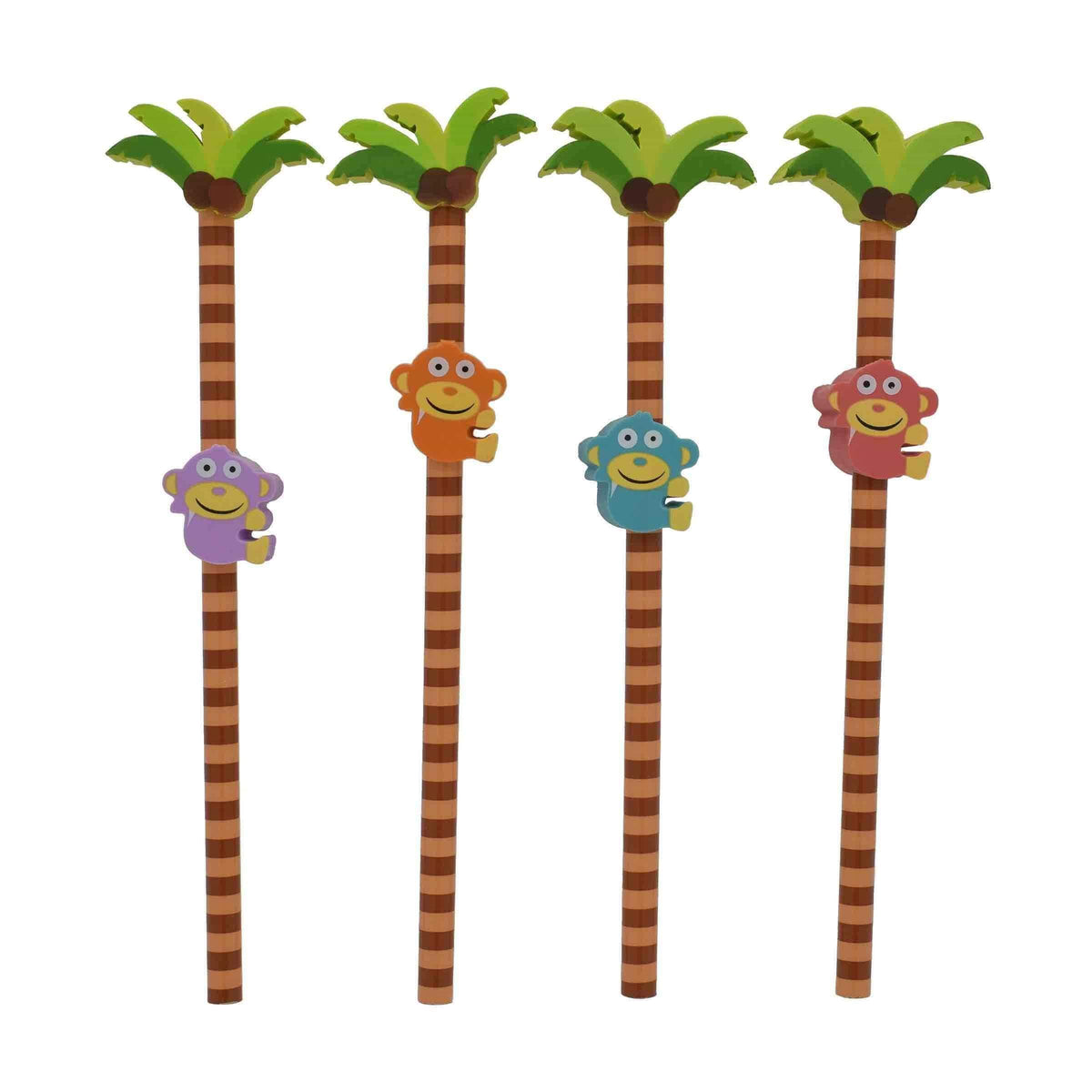 Monkey Eraser & Pencil Duo Set of 4
