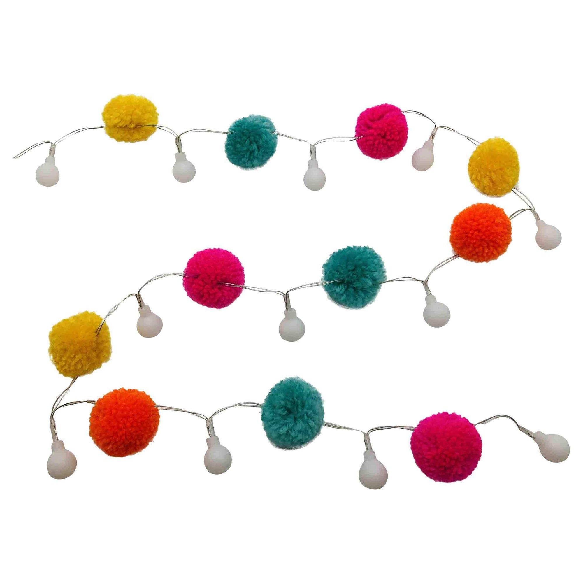 Streamline Lighting Pom Pom & LED String Light Garland