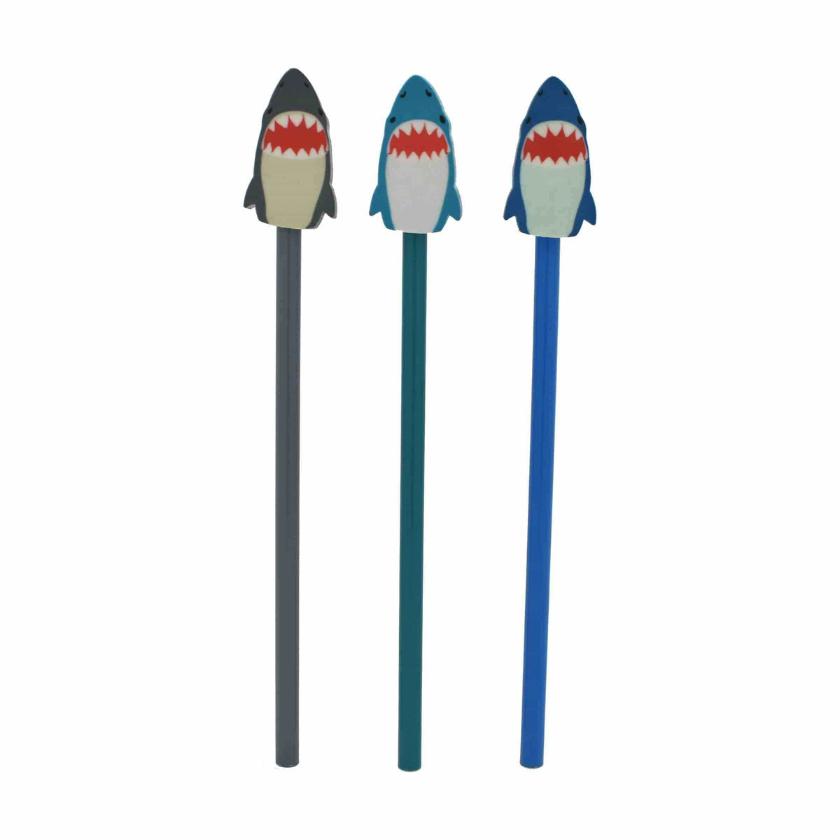 Shark Attack Eraser & Pencil Duo - Set of 3