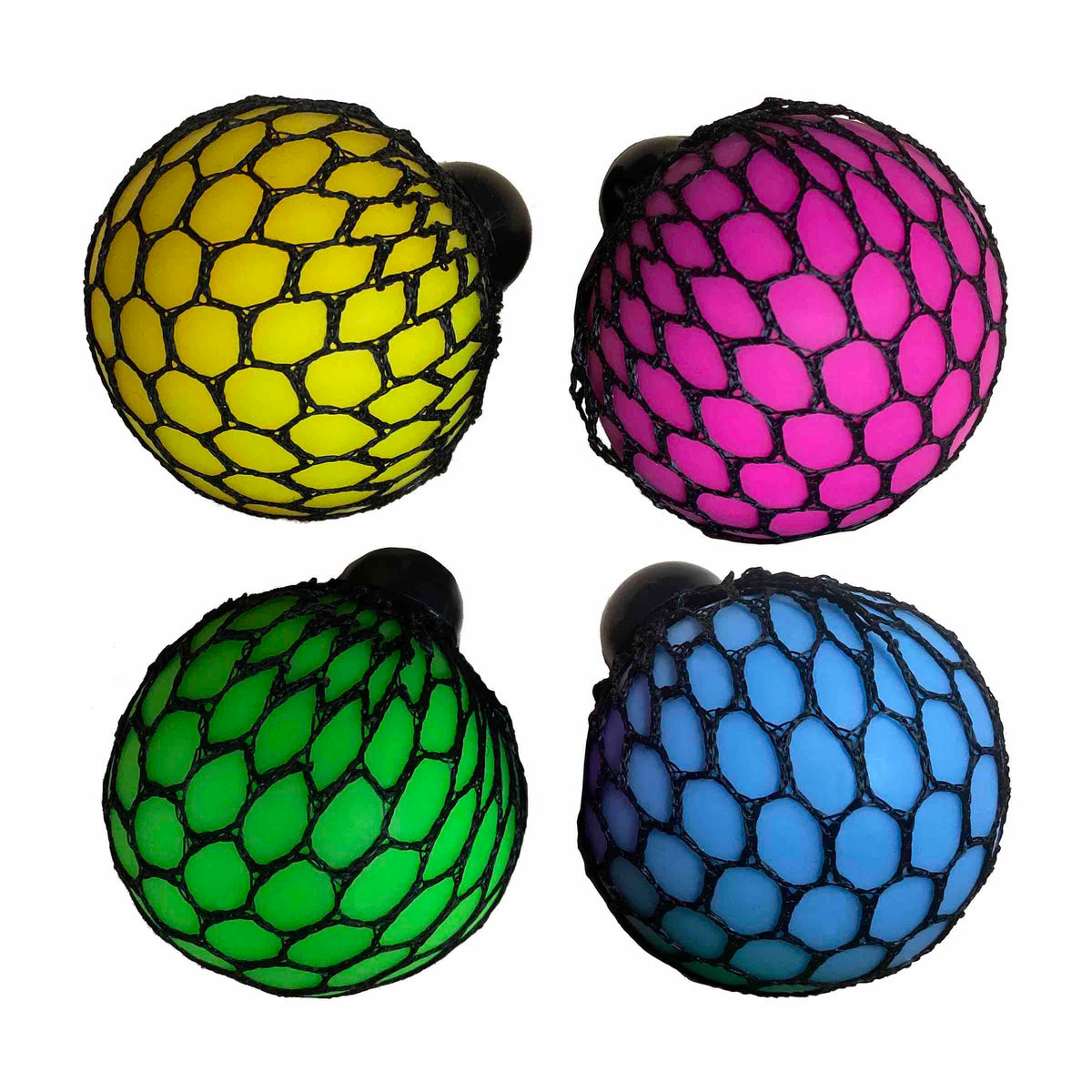 Mesh Squishy Ooze Ball - Set of 4