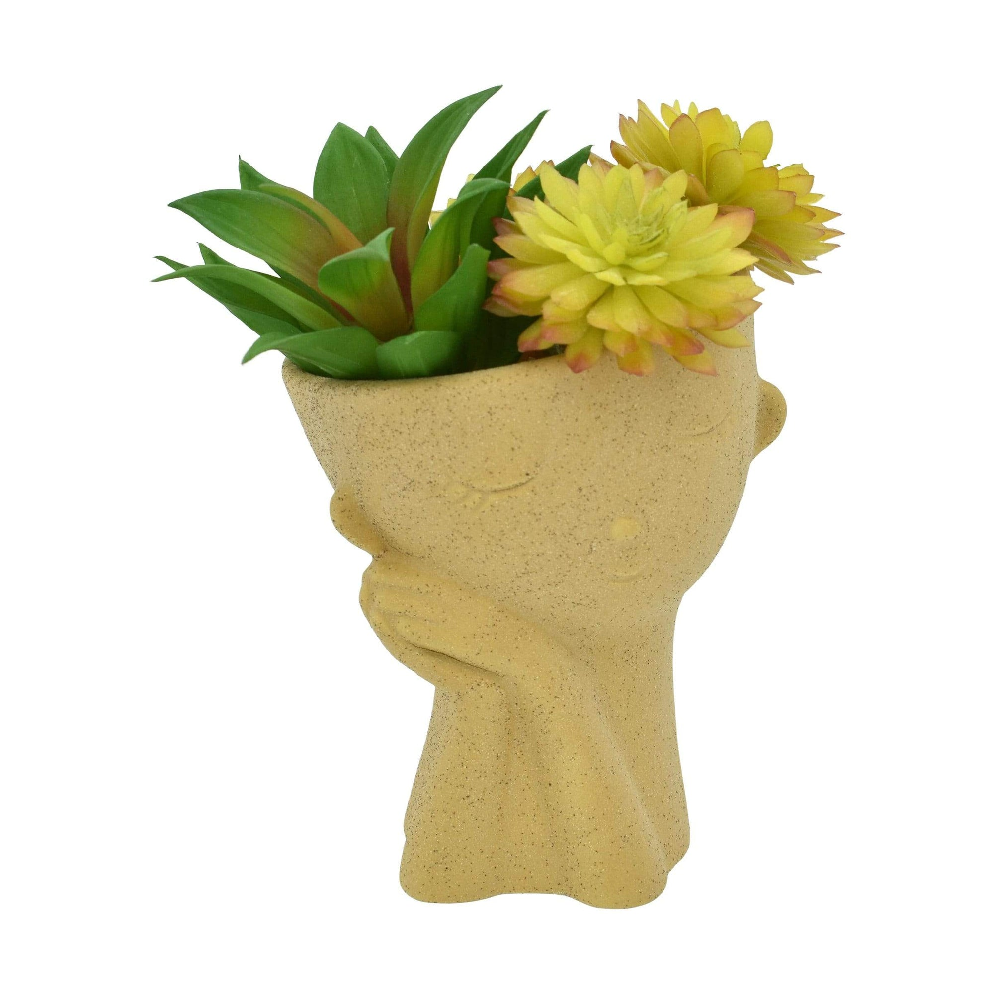 Streamline Garden Decor Endearing Face Planter
