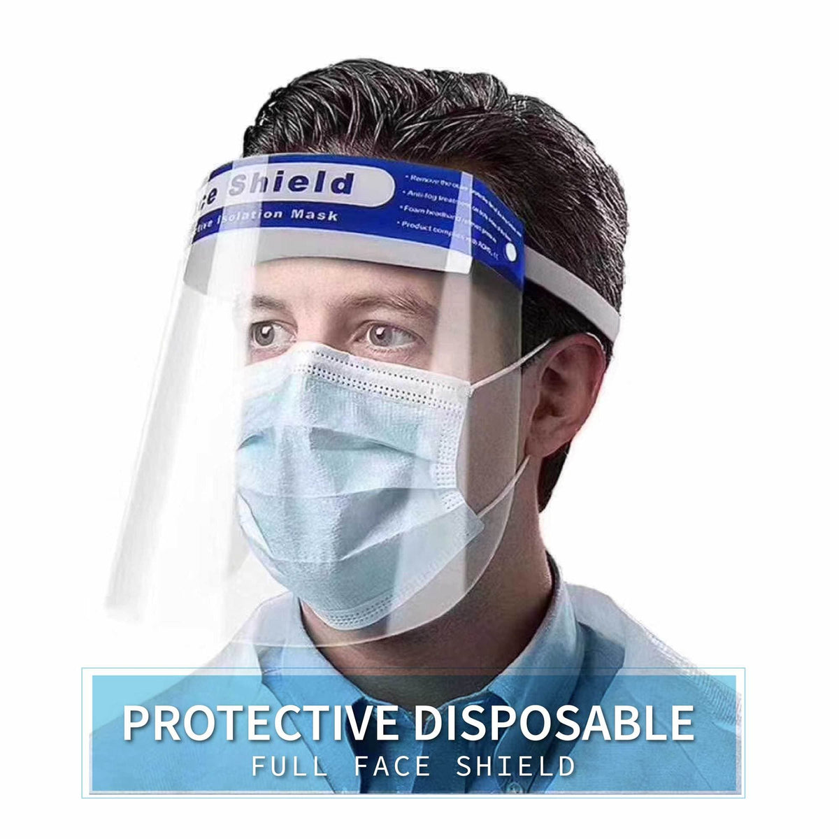 Protective Disposable Full Face Shield - Set of 5