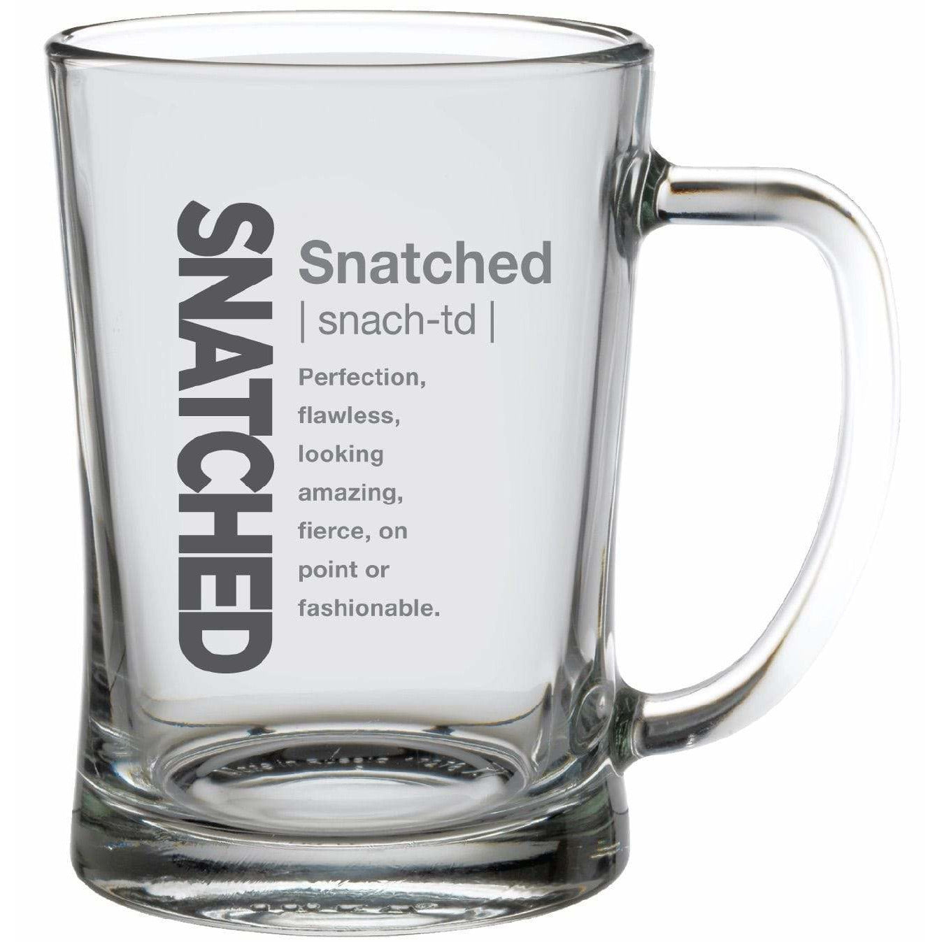 Streamline Mugs Super 22oz Slang Gang Glass Mug - SNATCHED