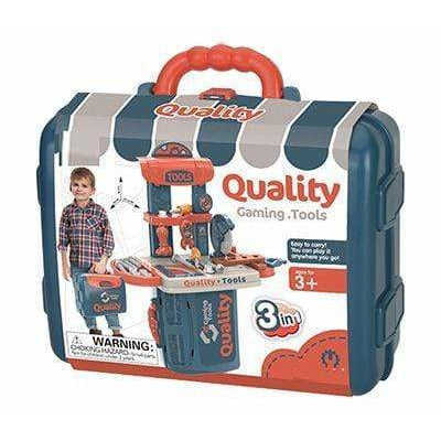 Streamline Paper Toys Builder Workbench Playset in a Case, 33 pcs