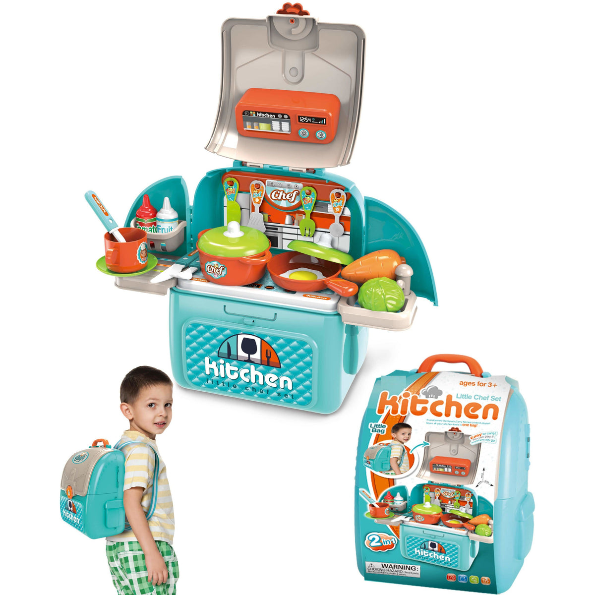 Karma Kiss Chef Kitchen in a Backpack, 31 pcs