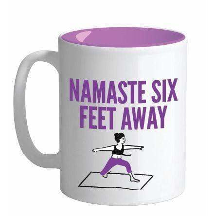 Streamline Mugs Sign of the Times 18oz Mug - NAMASTE 6 FT AWAY