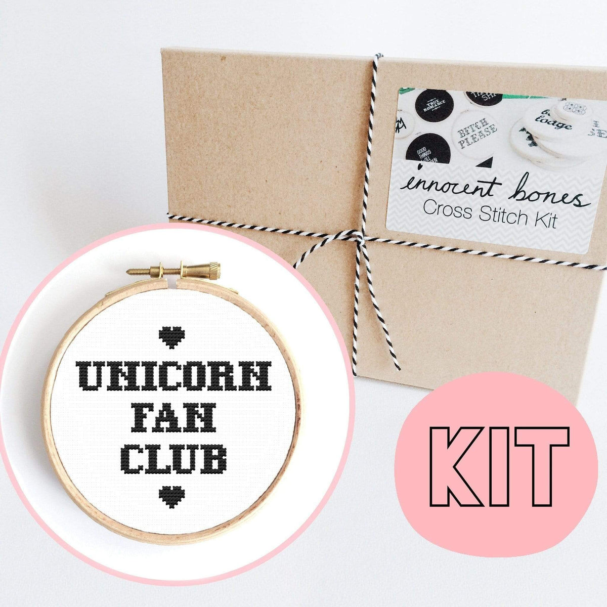 Unicorn Fan Club Naughty Counted - Cross Stitch Kit