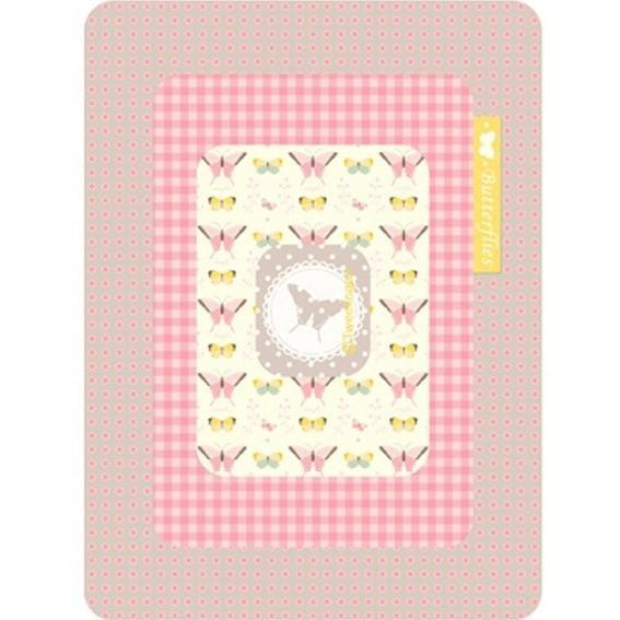 Magnetic Frame - Butterflies Pink