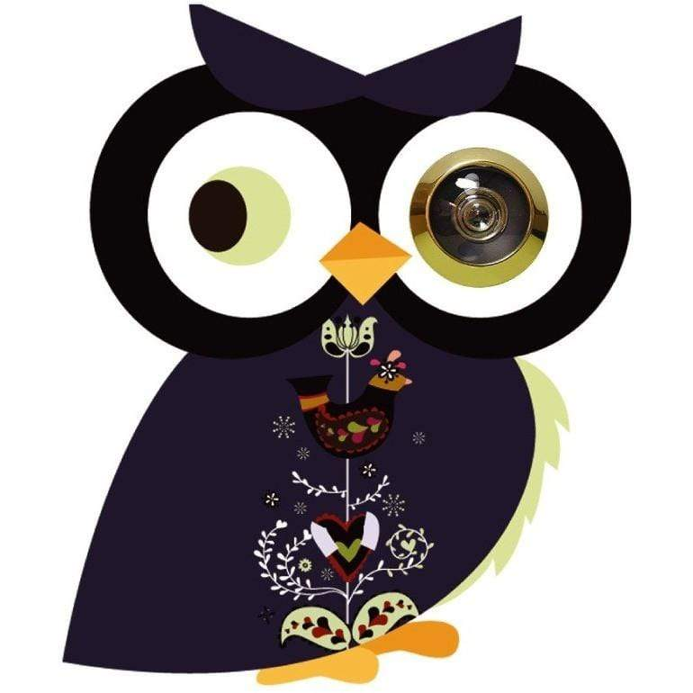 Excite Door Eye Sticker - Black Owl