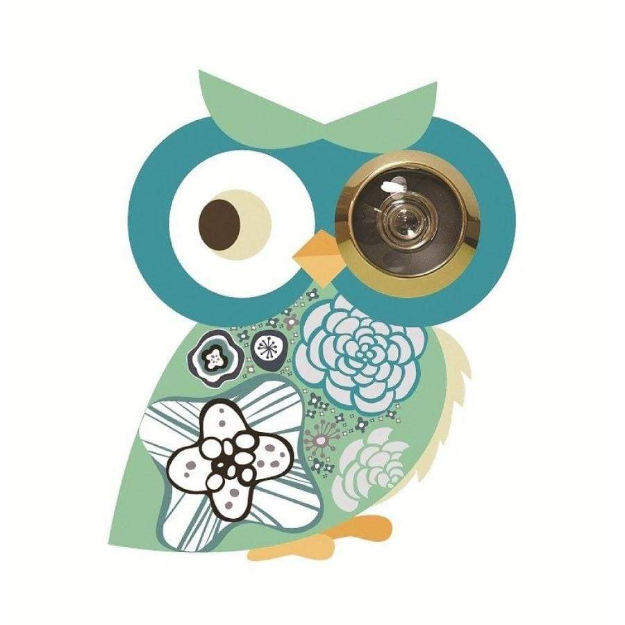 Excite Door Eye Sticker - Cyan Owl