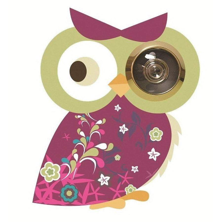Excite Door Eye Sticker - Pink Owl