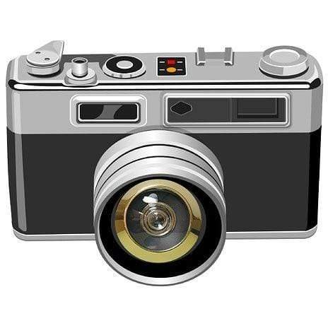 Excite Door Eye Sticker - Retro Camera