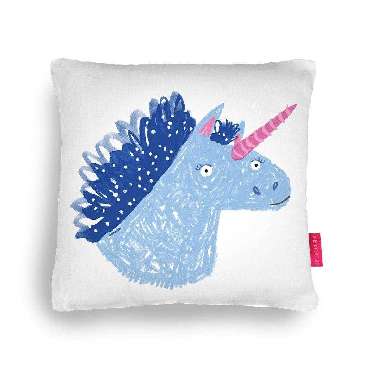Unicorn Cushion Decorative Pillow - 18 x 18 with Insert