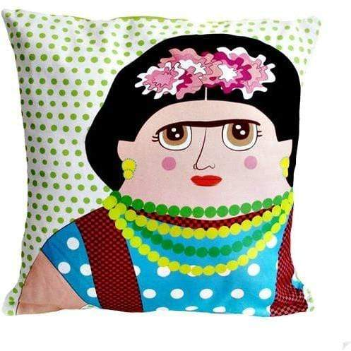 Late Greats Hand Made Pillow 16x16 - Frida Kahlo