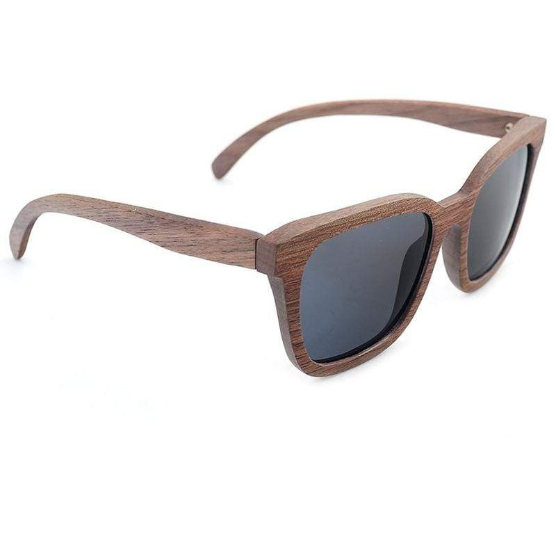 Handmade Wooden Sunglasses with UV 400 Protection - Brown/Grey