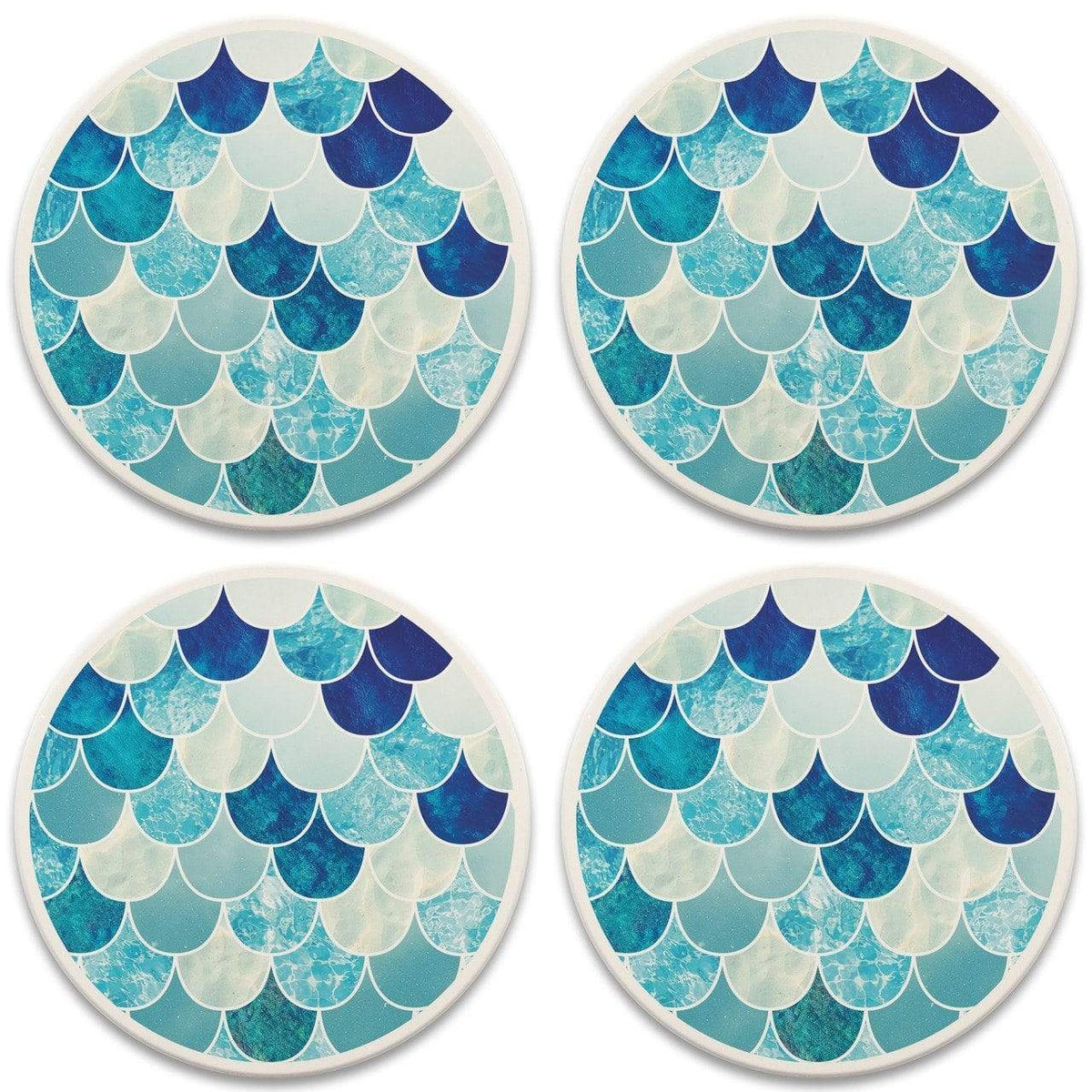 Mermaid Scales Stone Coasters - Set of 4