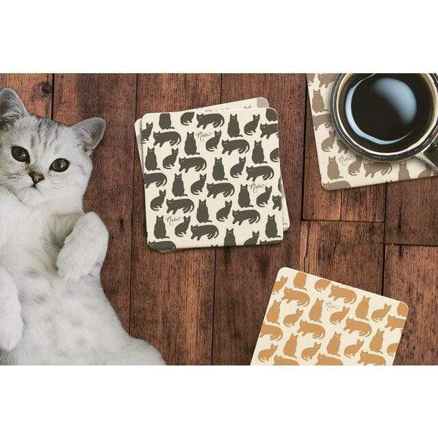 Meow Cats Stone Coasters - Set of 4