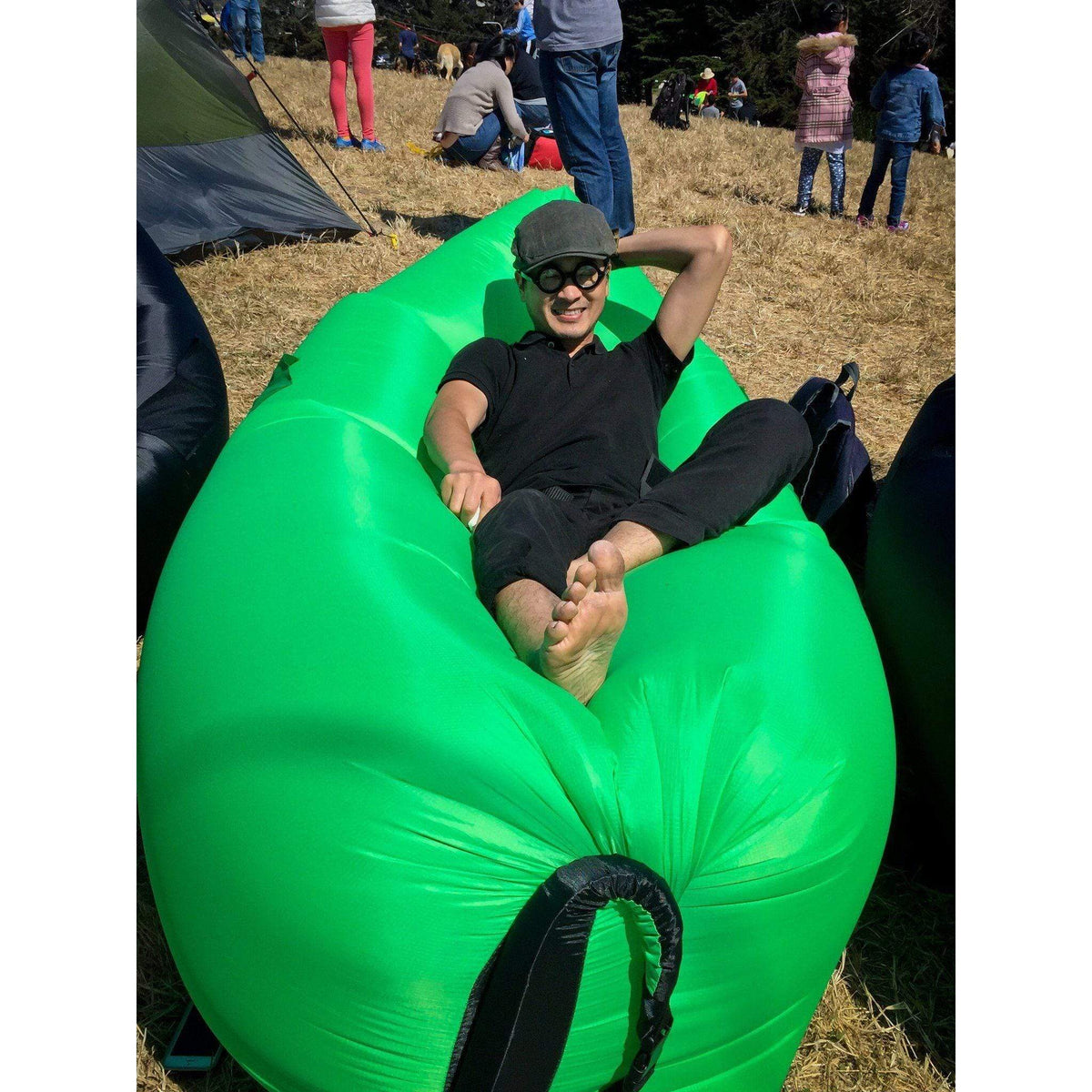 Easy Inflate Portable Sofa Lounge - Green