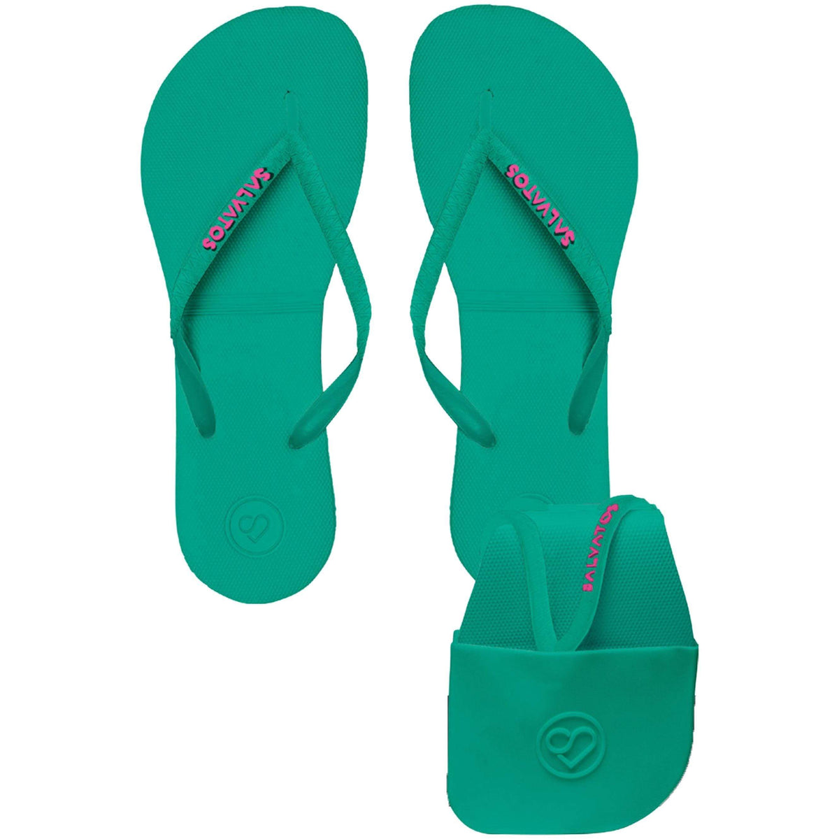 Salvatos Foldable Flip Flops - Melon